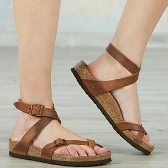 dd06134136c5 New Birkenstock Yara Antique Brown Sandals 37